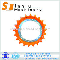 high quality spare part sprocket for bulldozer 300-7/komatsu excavator front roller