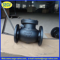 gas refilling lighters Cast iron swing check valve