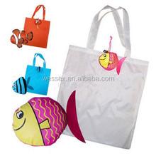 Goldfish Folding Bag Nylon Foldable Shopping Bag Cheap Drawstring Bag