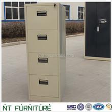 Modern knock down 4 drawer filing cabinet steel office furniture