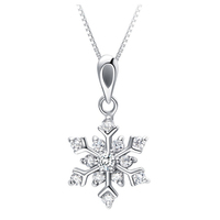 Christmas Items Wholesale Festival Symbol Women Accessories Snowflake Pendant Simple High Quality Festival Christmas Gifts 2015