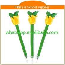Hot sale new design cheap polymer clay ball pen dark glow pen