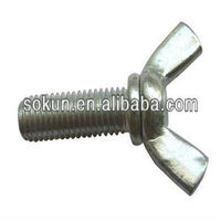 DIN316 zinc plated butterfly screws