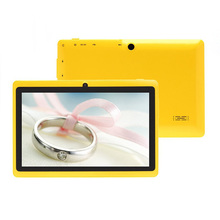 Tablet PC 7 inch Android 4.2.2 Q88 Yellow Pad 512MB+16GB Allwinner A23 Dual Core 1.5GHz Dual Camera W/Keyboard Case