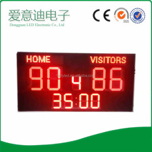 Outdoor use single digit for basketball football game led scoreboard sign board