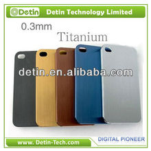 2013 New For iPhone 5 5s Titanium Case, Luxury New Alloy Metal Back Case for iPhone 5 5s