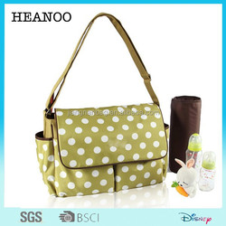 2015 new fashion dot design travel baby bag baby diaper bag for mummy
