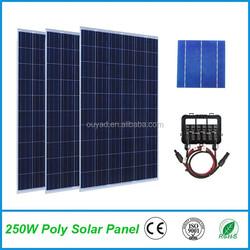 High efficiency 250W Poly solar panel price