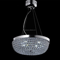2015 new design aluminium chrome factory lighting led crystal chandelier
