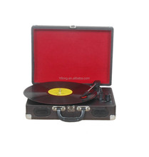 best buy record player turntable suitcase style customized logo leather color available