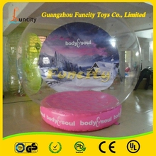 2015 outdoor popular giant snow globe christmas inflatable snow globe for sale
