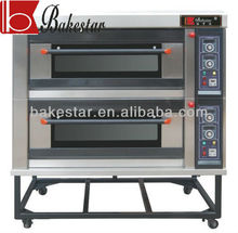 Bakestar 2 layer 4 trays deck oven bakery equipment in china