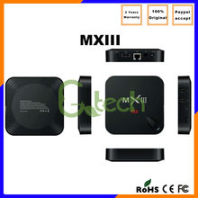 Hot selling Amlogic S802 Quad Core Android 1G/8G Kodi 4k*2k wifi MXIII MXIII games of portable media player hd