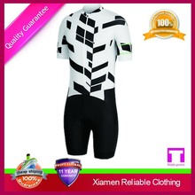 Custom Cycling Jersey 2015/Custom White and Black Cycling Skinsuit for Cyclist