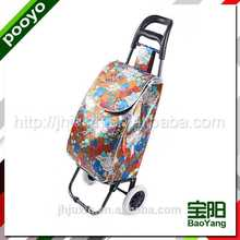 shopping bag trolley wooden display counter