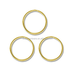 Cheap Price High Quality Metal 18mm Gold Plated Key Ring