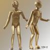 Sexy fashion dress golden full body kids mannequin little models