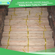 high quality smooth round varnished wooden broom handle