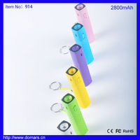 2015 Domars Brand Hot Sale Mini Gift 2800mAh Battery Charger USB Slim Power Bank