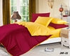 Sunshine Yellow and Burgundy Reversible 6pc Bed in a Bag Set