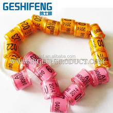 free shipping lot sale,500pcs personalized plastic Pigeon leg Ring,piegon band for racing club,loft 8mm initial size