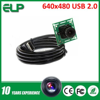 OV7725 CMOS 26*26mm mini size 640*480 MJPEG YUY2 low light usb camera ELP-USB30W02M-L36