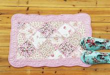 China supplier fashion 100%cotton patchework fire proof floor mat