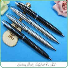 2015 full metal signs pens with silver body metal rotomac rotating ball-point pen