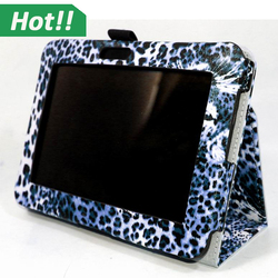 Wild Leopard Design Pattern PU leather Stand Protective Cover Case For Amazon Kindle Fire HD