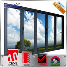 5 stars energy rating AS2047 standard folding door design double glazing and modern style