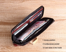 Good quality leather coin sorter minimal wallet leather pocket