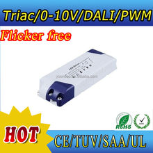 hot no flicker constant voltage led dimmable driver for12v 24v led strips compatible for Lutron,ABB, Dynalite