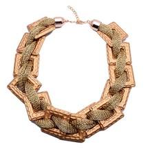 matte gold light weight chain necklace, flat rope chains necklace, gold choker necklace chains design