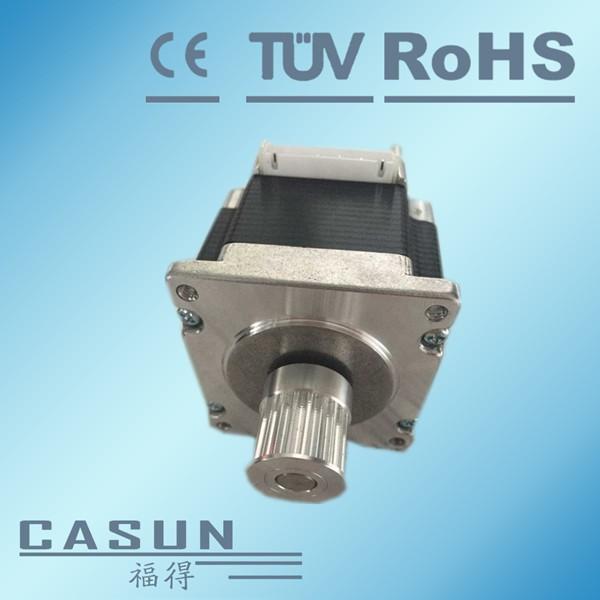 Hybrid nema 23 stepper motor motor pulley 20 teeth 5mm for Nema stepper motor frame sizes