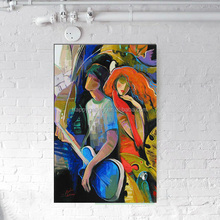 handmade abstract human figure oil painting