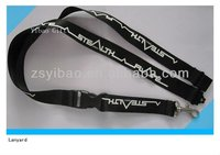 Custom key chain snap hook lanyard dog clips polyester lanyard with buckle and plastic name card holder