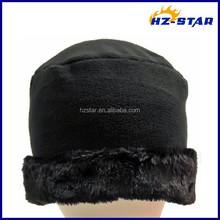 HZW-14207006 Black More Function Winter Outdoor Warm fleece with fur new caps wholesale
