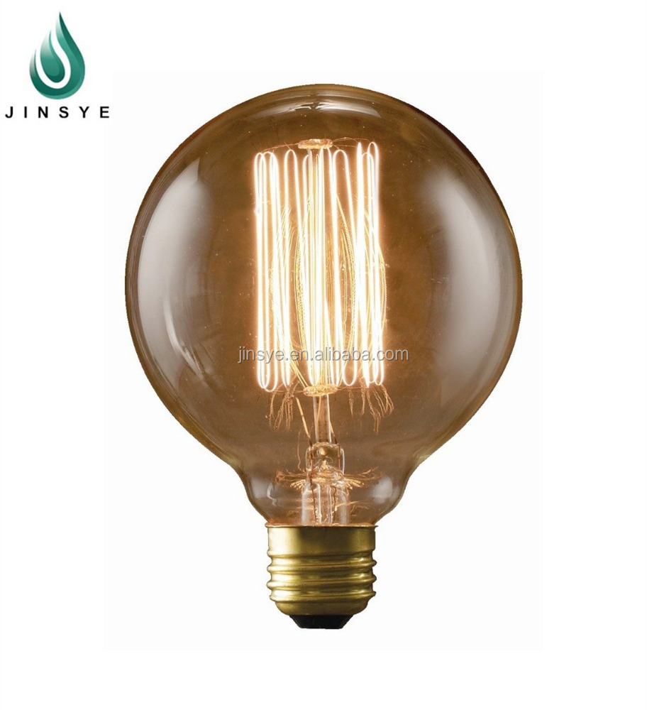 round clear glass ball vintage edison light bulb manufacturers