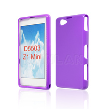Colorful Crystal Case for Sony Z1 Compact Cover Skin Shell Z1 mini D5503 Phone Cases