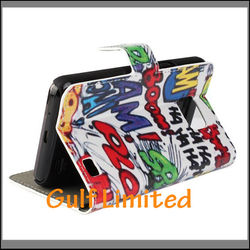 Colorful printing wallet fancy case for samsung galaxy s2