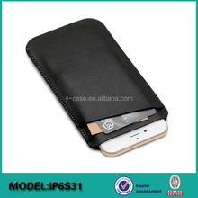 mobile accessories ultra thin leather cellular pouch for iPhone 6S Plus 5.5
