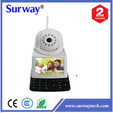 0.3MP onvif 3.5 inch LCD wireless ip video phone camera wifi baby monitors support free video call