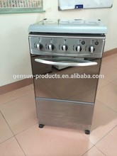 Stainless steel cooking range 4 gas burnes free standing cooker with oven GS-K05SS