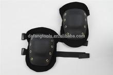 Double straps hard cap genuine leather knee protectors
