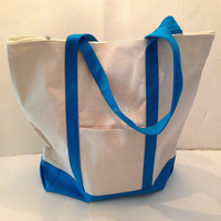 Alibaba China Online Hot Sell Fashion Beautiful canvas tote bag with outside pockets