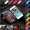 for apple iphone 5 wallet case with card slot and holder ID book wallet leather cover, flip case for iphone 5, for iphone 5 case