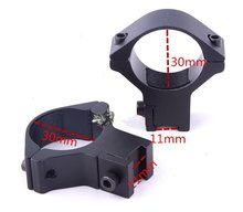 Hunting 30mm Scope Ring 11mm Weaver Dovetail Rail mount for Flashlights Laser Sights riflescope