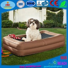 Flocking Fabric Cover Inflatable Pet Dog Air Bed