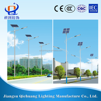 HDG finish Solar LED outdoor street lights manufacturer in jiangsu