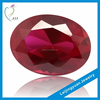 Wuzhou Factory Rough Oval Synthetic Ruby Stone Prices